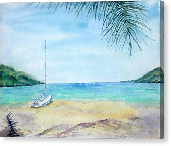 Waiting For A Sailor Canvas Print