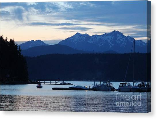 Waiting For Fireworks At Alderbrook Canvas Print