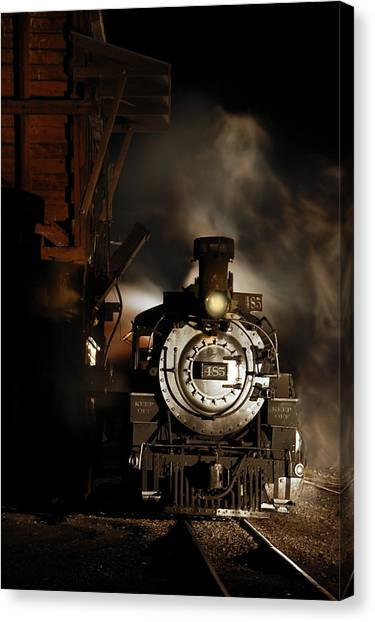 Waiting For More Coal Canvas Print