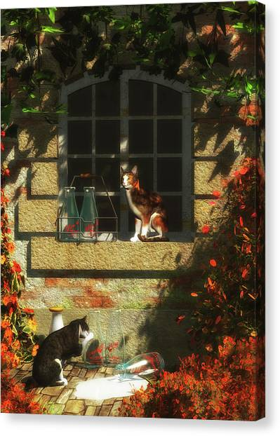 Waiting For More Milk Canvas Print