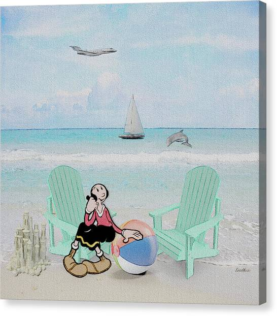 Waiting For Popeye Canvas Print