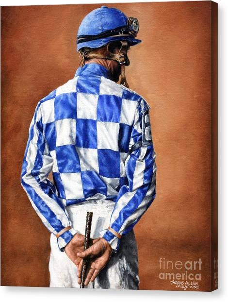 Kentucky Derby Canvas Print - Waiting For Secretariat by Thomas Allen Pauly