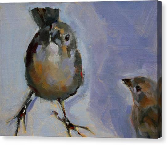 Waiting For Snacks Canvas Print by Merle Keller