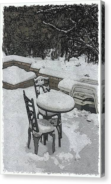 Waiting For Spring Canvas Print