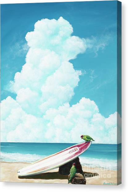 Waiting For Surf Canvas Print