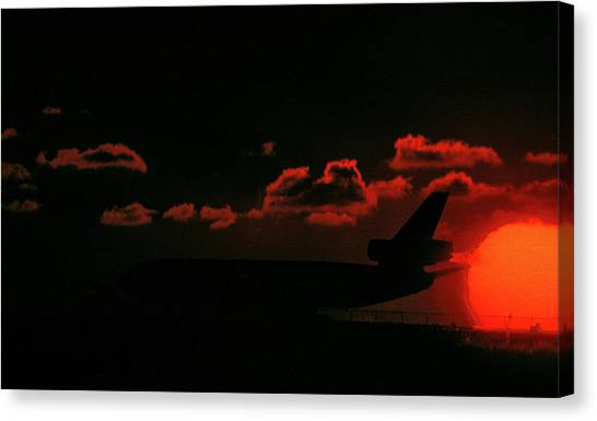 Waiting For Takeoff Canvas Print