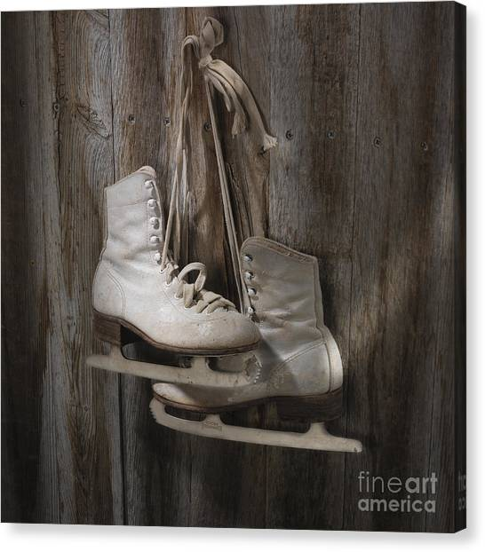 Figure Skating Canvas Print - Waiting For The Pond To Freeze by Jerry McElroy