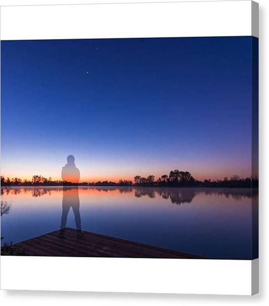 Venus Canvas Print - Waiting For The Sun  #alba #sunrise by Francesco Russo