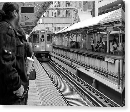 Waiting For The Train 3 Canvas Print