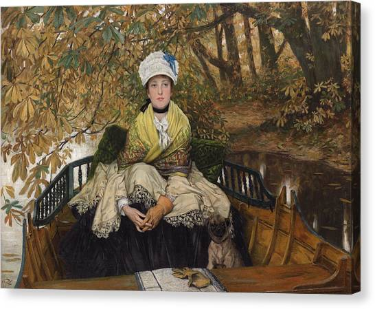 Murky Canvas Print - Waiting by James Jacques Joseph Tissot