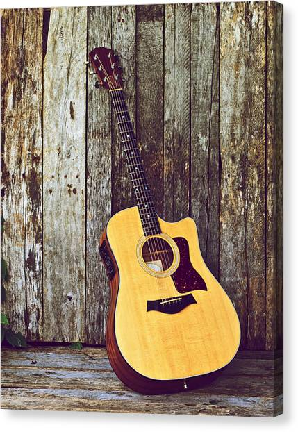 Classical Guitars Canvas Print - Waiting. by Kelly Nelson