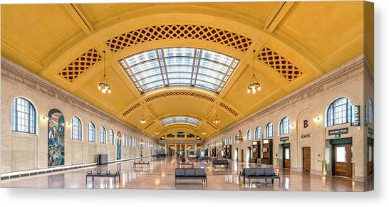 Amtrak Canvas Print - Saint Paul Union Depot Waiting Room  by Jim Hughes