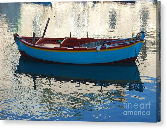 Waiting To Go Fishing Canvas Print