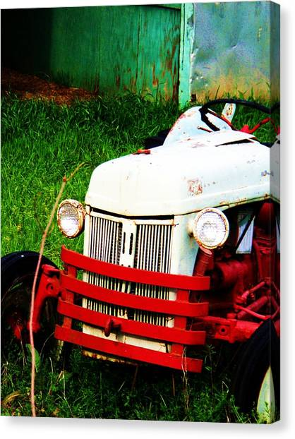 Waiting To Plow Canvas Print by Beverly Hammond