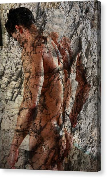 Bodybuilder Canvas Print - Waiting  To The One  by Mark Ashkenazi