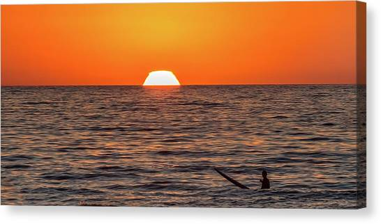 Surf Lifestyle Canvas Print - Waiting - Watching by Peter Tellone