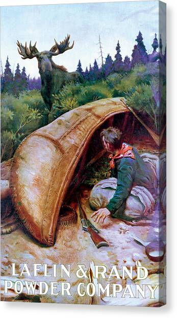Canoe Canvas Print - Wake Up Call by Phillip R Goodwin