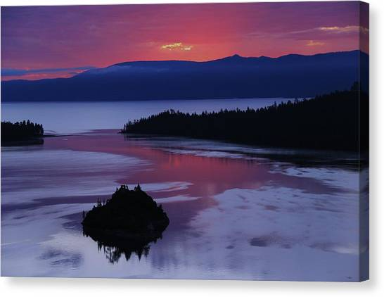 Canvas Print featuring the photograph Wake Up In Lake Tahoe  by Sean Sarsfield