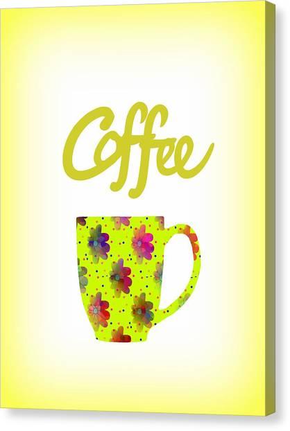 Wake Up To Coffee Canvas Print