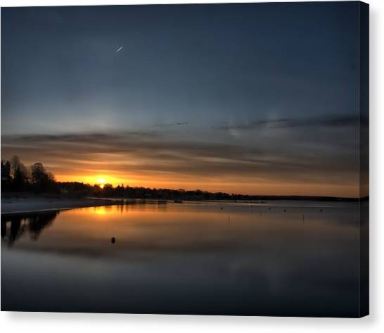Waking To A Cold Sunrise Canvas Print