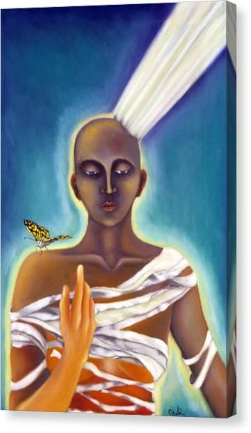Waking Up Canvas Print by Gloria Cigolini-DePietro