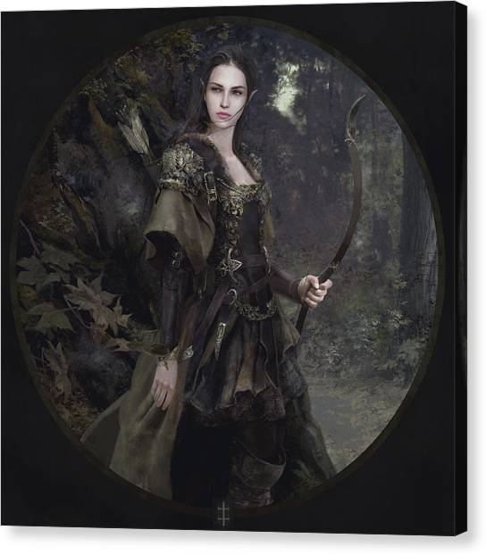 Elves Canvas Print - Waldelfe by Eve Ventrue