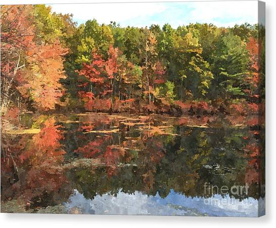 Walden Pond Canvas Print by Bryan Attewell
