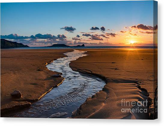 Wales Gower Coast Canvas Print