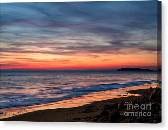 Wales Gower Coast Dusk Canvas Print