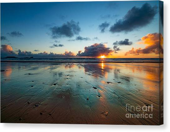 Wales Gower Coast Summer  Canvas Print
