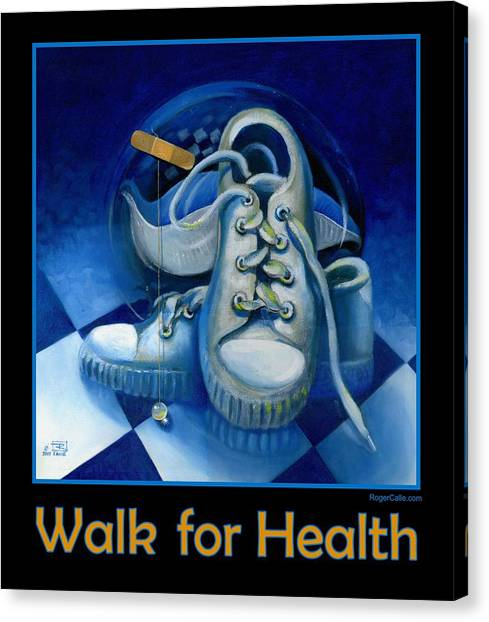 Walk For Health Poster Canvas Print