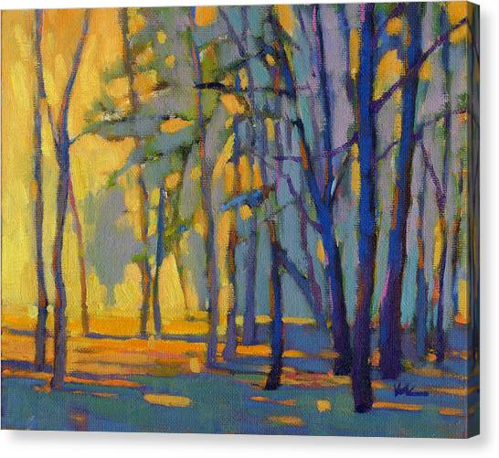 Canvas Print featuring the painting Walk In The Woods 3 by Konnie Kim
