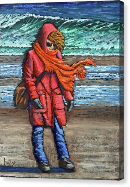 Walk On Beach Canvas Print
