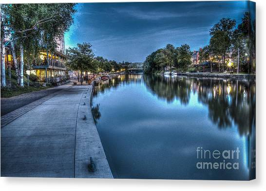 Walk On The Canal Canvas Print