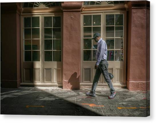 Canvas Print featuring the photograph Walk by Ryan Shapiro