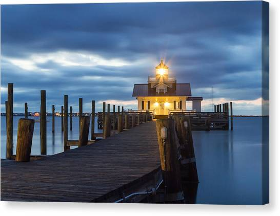 Walk To Roanoke Marshes Lighthouse Canvas Print