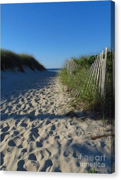 Walk To The Beach Canvas Print