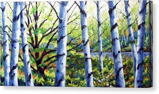 Poppys Canvas Print - Walk To The Lake by Richard T Pranke