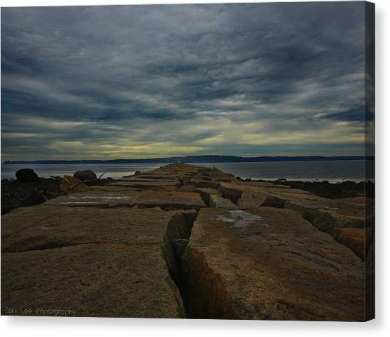 Walk To The Sea Canvas Print