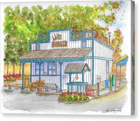 Walker Burger In Walker, California Canvas Print