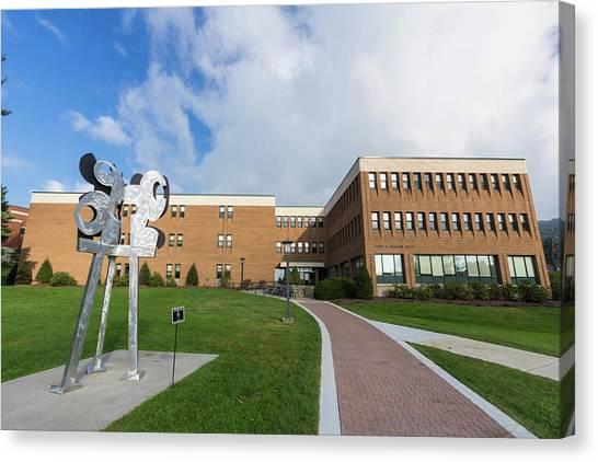 Appalachian State University Asu Canvas Print - Walker Hall At App State University by Bryan Pollard