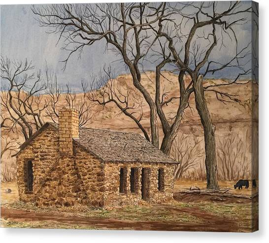 Walker Homestead In Escalante Canyon Canvas Print