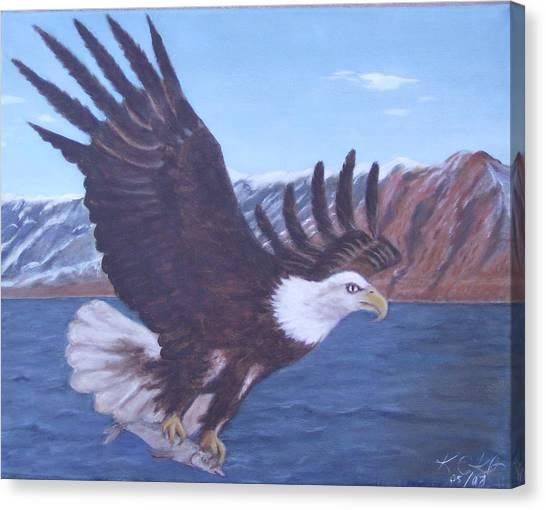 Walker Lake Canvas Print by KC Knight