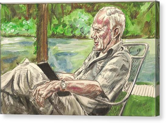 Walker Percy At The Lake Canvas Print