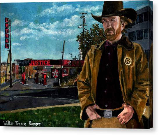 Karate Canvas Print - Walker Texaco Ranger by Thomas Weeks