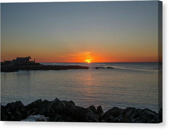 George Bush Canvas Print - Walkers Point Kennebunkport Maine by Bill Cannon