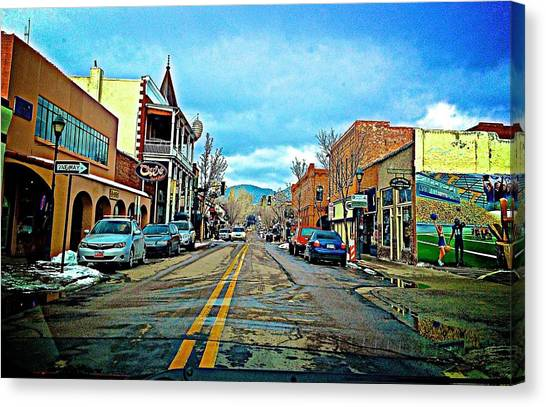 Northern Arizona University Nau Canvas Print - Walkin' Flagstaff by FlyingFish Foto