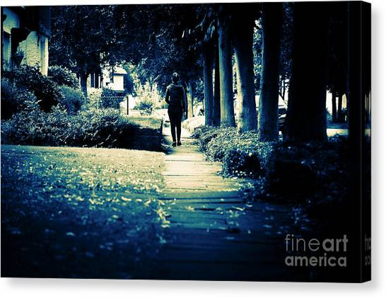 Walking A Lonely Path Canvas Print