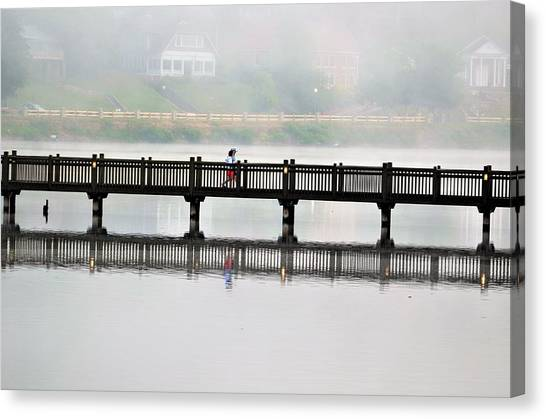 Walking Bridge Canvas Print