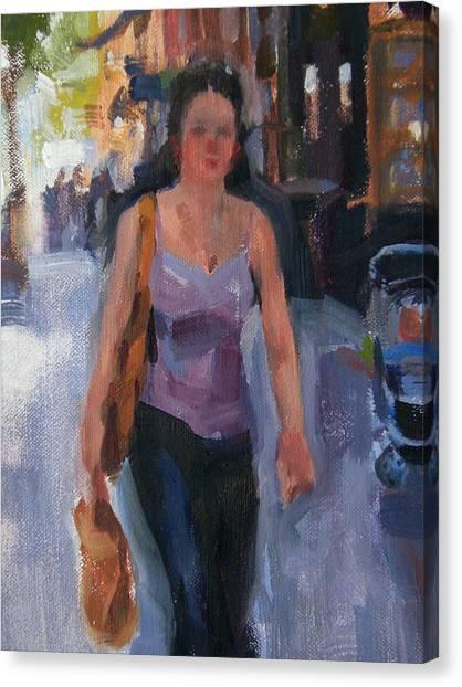 Walking Down Bleeker Street Canvas Print by Merle Keller